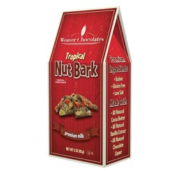 Premium Milk Chocolate Tropical Nut Bark Gable Box 3 oz