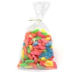 Sour Neon Worms 14 oz Twist Bags