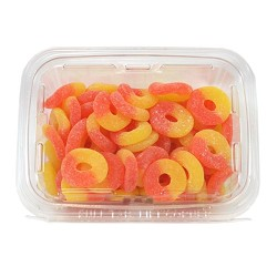 Peach Rings 14 oz Tubs