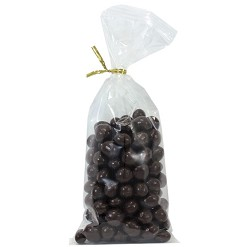 Pure Dark Chocolate Espresso Beans 8 oz Twist Bags