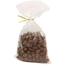 Weaver Chocolates Milk Chocolate Covered Raisin 10 oz Twist Bags