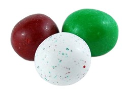 Georgia Nut Christmas Red White and Green Malt Balls