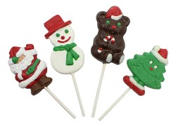 Mom 'n Pops Christmas Chocolate Flavored Pops Counter Display