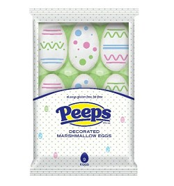Just Born Decorated Marshmallow Peeps Eggs