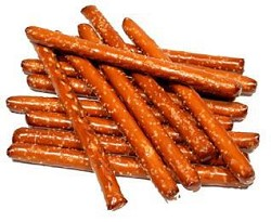 Salted Pretzel Rods Pre-pack in 10 oz bags