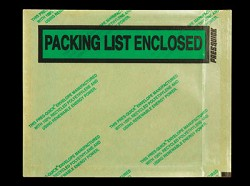 Packing List Envelopes 4 1/2
