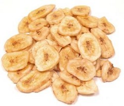 Whole Sweetened Dried Banana Chips