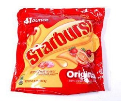 Wrigley Starburst Original Bite Size Chews 6/50 oz