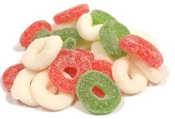 Albanese Gummie Sour Christmas Wreaths