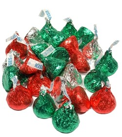 Hershey Milk Chocolate Red And Green Kisses