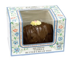 Asher's Dark Chocolate Vanilla Butter Cream Egg 8 oz